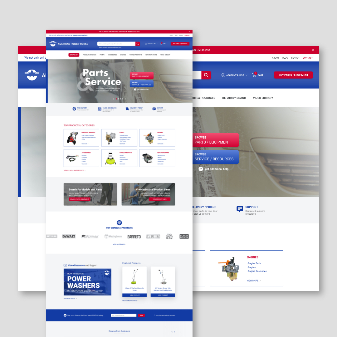 APW Distributing Website Design