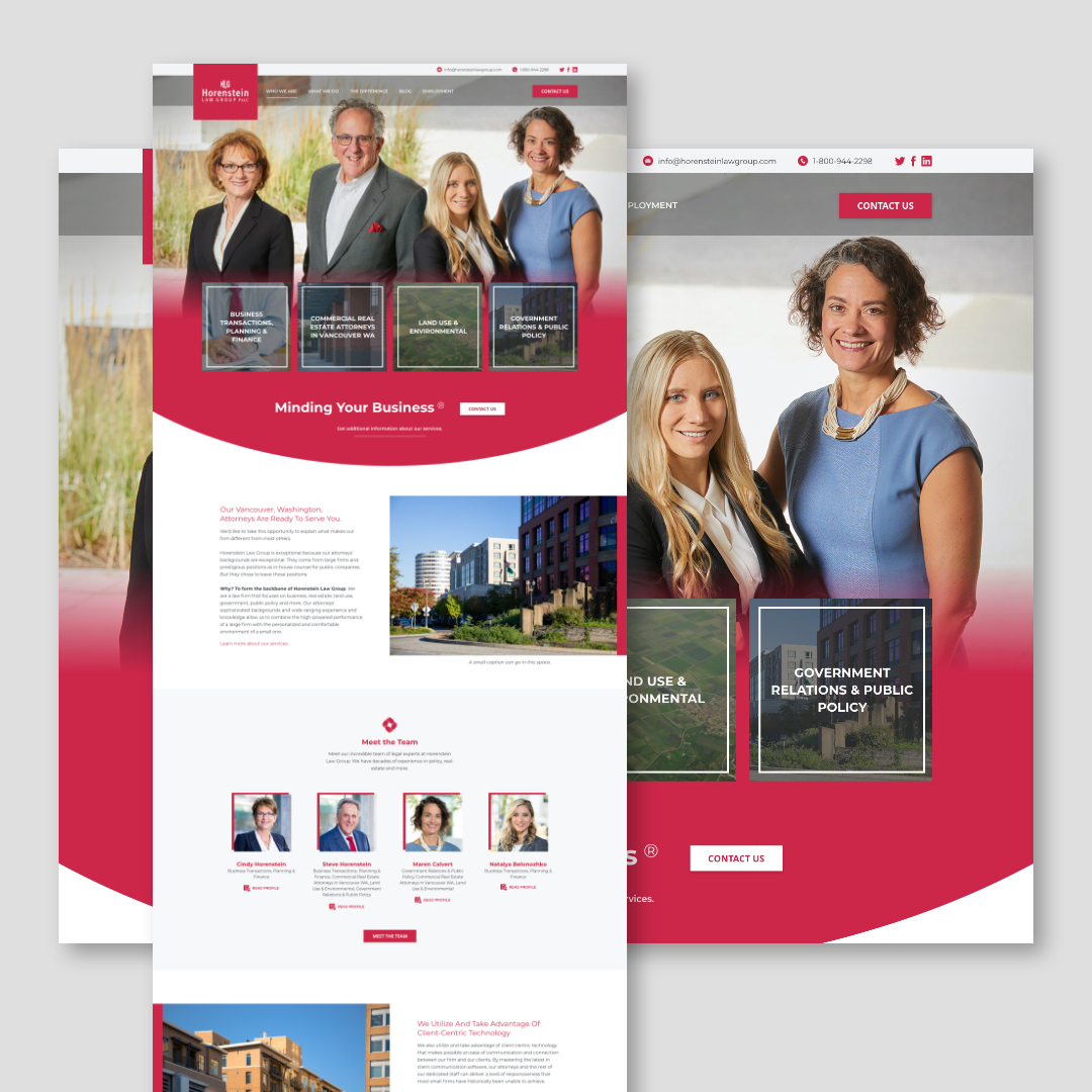 Horenstein Law Website Design